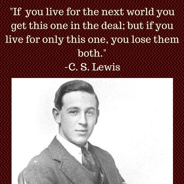 C. S. Lewis on Christ's teaching on being in the world, but not of the world.