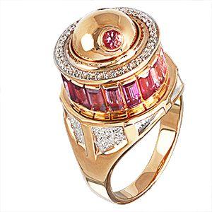 Рыжее золото, цветные сапфиры, рубин, бриллианты   ЮБ Роскошь