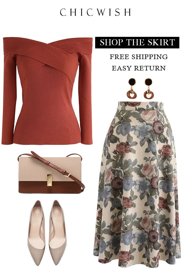 84e857bf1c Free Shipping & Easy Return. Up to 30% Off. Floral Impression Faux Suede  Skirt.