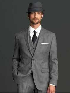 Think About A Vintage Look To Your Formal Suit Three Piece With Jacket
