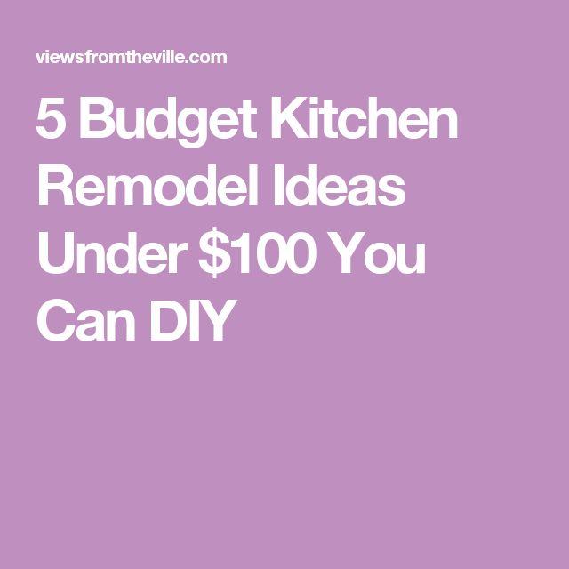 Cheap Kitchen Remodel Diy