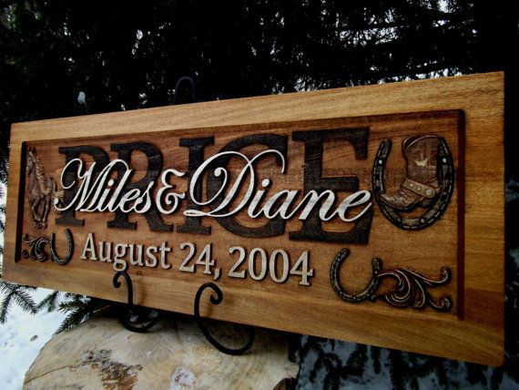 Western Wedding Gift Ideas: 74 Best Images About Wedding / Anniversary / Plaques