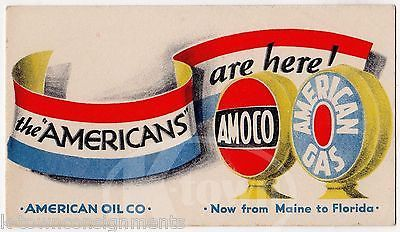 AMOCO & AMERICAN GAS & OIL PETROLIUM COMPANY GRAPHIC ADVERTISING INK BLOTTER