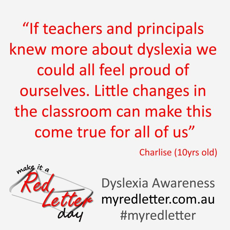 Quote Make it a Red Letter Campaign & Competition Dyslexia Awareness #myredletter