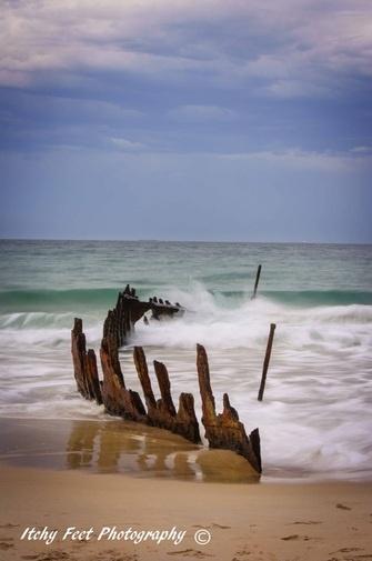 SS Dicky, Dicky Beach, Caloundra QLD Australia