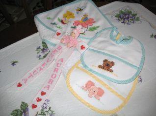Asciugamani oblo' con lavanda - della categoria Punto Croce dall'album di Barbara69.