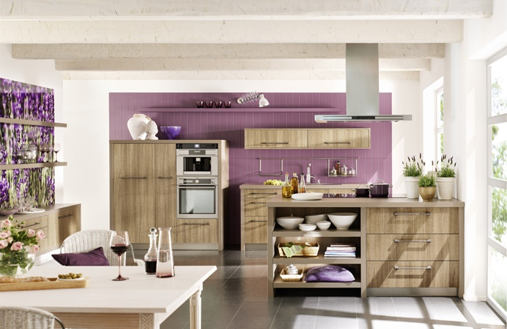 Modern wood German kitchen design