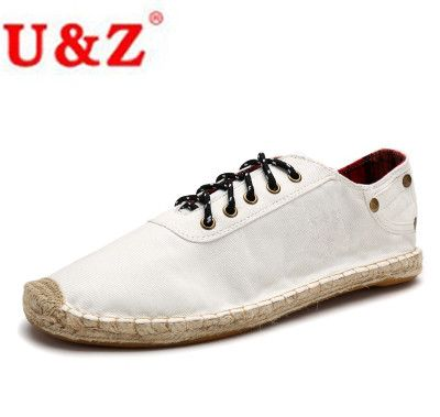 Buy now 2017 Canvas Denim Espadrilles Driving Shoes for Men (white/blue/black) match your Jeans,Popular Casual Loafers Flats Eu38-Eu45 just only $28.32 with free shipping worldwide  #menshoes Plese click on picture to see our special price for you