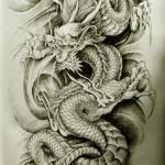 Oriental Dragon Tattoo Style (10)