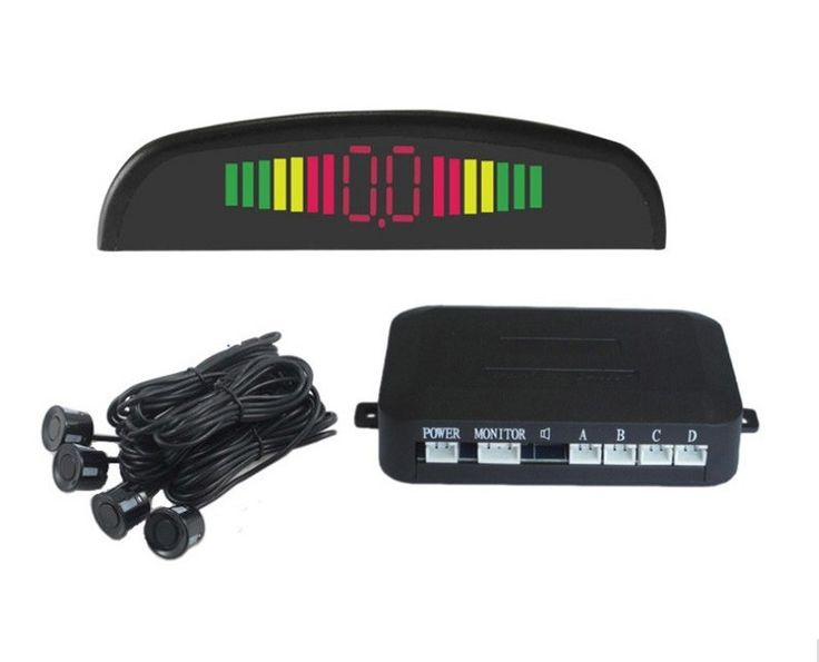 1 Unidades Coche LED Kit Display 4 Sensores de Aparcamiento para todos coches Asistencia Inversa de Copia de seguridad Monitor de Sistema de 22mm Auto Reverse Radar 12 v
