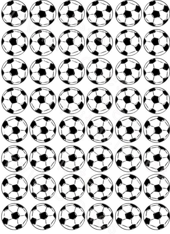 Soccer PRINTABLE mini Cupcake toppers bottle caps by labarradulce, $2.50 ♥ 10OFF Thank You Coupon 10% off ♥ printable topper  cupcakes  cupcake topper  for edible paper  soccer  football  futbol  ball  pelota  match soccer game  soccer birthday  world cup brazil