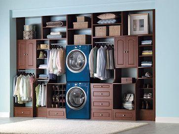 laundry in master closet ideas   Laundry Room Walk in Closet - contemporary - laundry room - new york ...