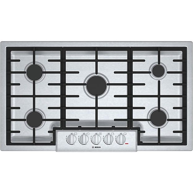"""Bosch NGM8655UC 36"""" 800 Series Gas Cooktop - Stainless Steel"""