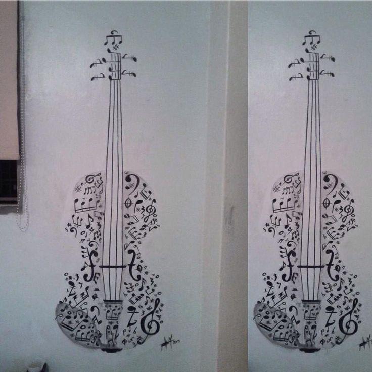 """Really cool art by a fan! Paola Jimenez. #twosetviolin #violin #prAcrastinate #art"""