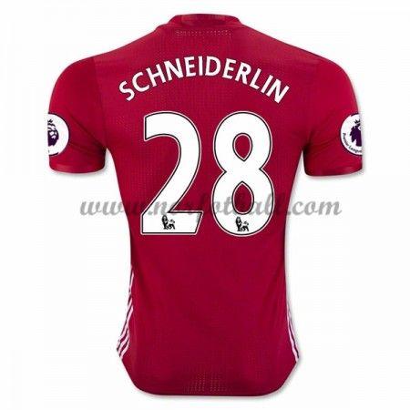 Billige Fotballdrakter Manchester United 2016-17 Schneiderlin 28 Hjemme Draktsett Kortermet