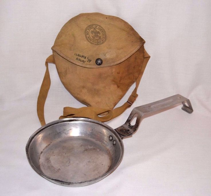Vintage 1954 Mess Kit Boy Scouts Camping Hiking Cooking Pan Plate Bag N.Y. City