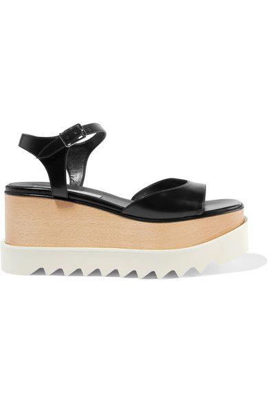 Stella McCartney - Faux Leather Platform Sandals - Black - IT36.5