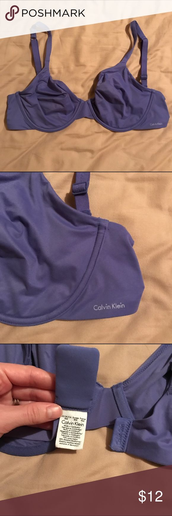 No padding bra Underwire but no padding. Softest material ever! Wide band for comfort. Used for maternity sports bra while my bust was bigger and now it no longer fits. Basically brand new condition. Calvin Klein Intimates & Sleepwear Bras