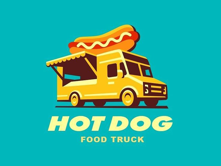 Hot Dog food truck illustration by @sodesignby  #gfxmob #branding #graphics…