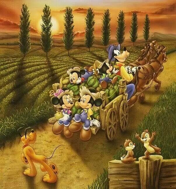 Disney Fall Wagon
