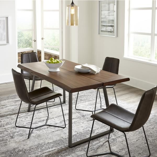 Live Edge Industrial Dining Table Live Edge Dining Table Industrial Dining Table Dining Table