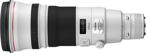 Canon - EF 500mm f/4L IS II USM Super Telephoto Lens for Most Canon EOS SLR Cameras - White