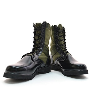 (CHSH005-KHAKI) Military Jungle Combat Leather Boots