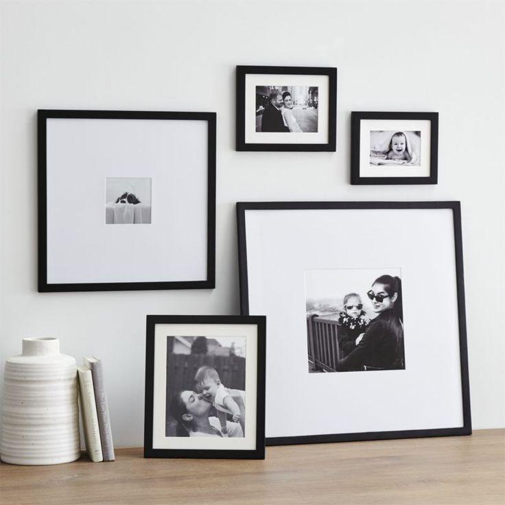 5-Piece Matte Black Picture Frame Set | Crate and Barrel