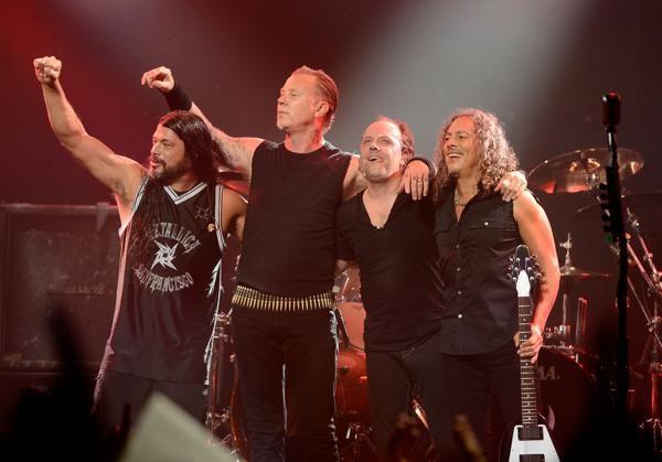 Metallica band members - (L-R) Robert Trujillo, James Hetfield, Lars Ulrich & Kirk Hammett.