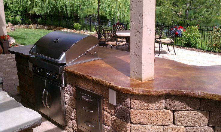 stained concrete countertop images | Concrete countertops stained with VIVID™ Acid Stain in Mission Brown ...