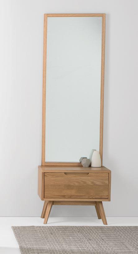 Jenson Storage Mirror, Oak