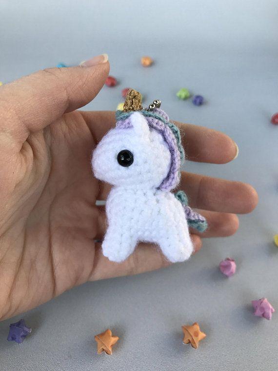 Amigurumi pattern unicorn keychain/bag charm | Amiguroom Toys | 760x570