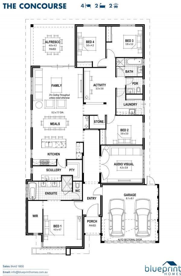 Home Designs Perth Blueprint Homes Home Design Floor Plans Dream House Plans 4 Bedroom House Plans