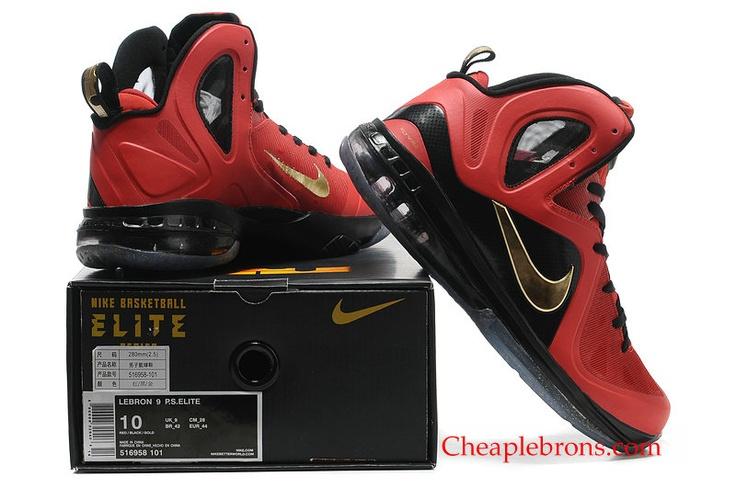 on sale a5e92 c058f lebron 9 elite finals gold 516958 101 red black air jordan 1 satin shadow