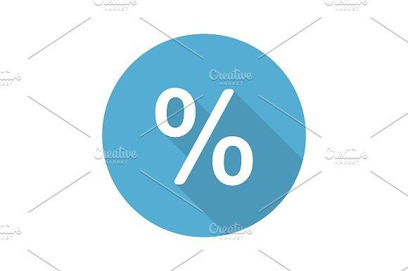Percent sign. Vector #accounting
