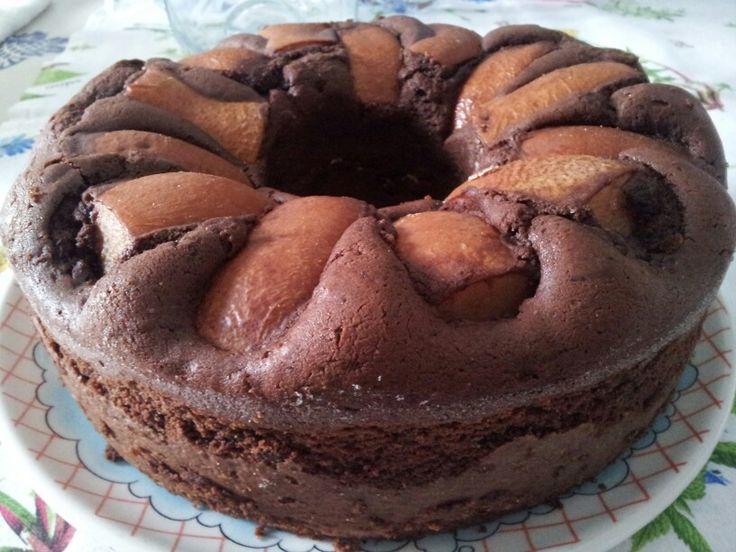 Torta cioccolato e pere nel fornetto Versilia:-):-):-):-)