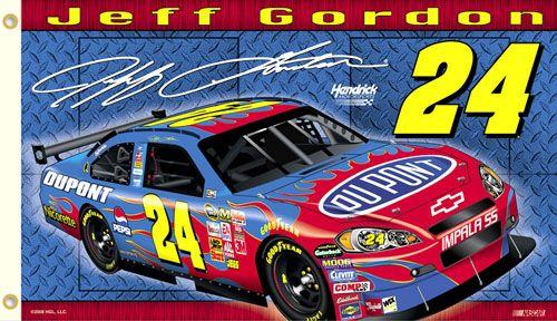 Jeff Gordon GORDON NATION Giant 3'x5' NASCAR Flag - #24 Hendrick Motorsports DuPont Chevrolet - available at www.sportsposterwarehouse.com