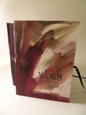 """hand painted papers journal """"Soul Words"""""""
