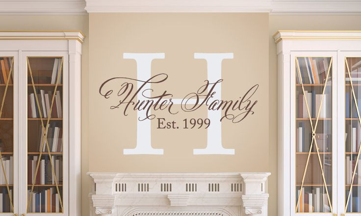 Elegant Family Wall Decal  Family Monogram  by TweetHeartWallArt, $30.00