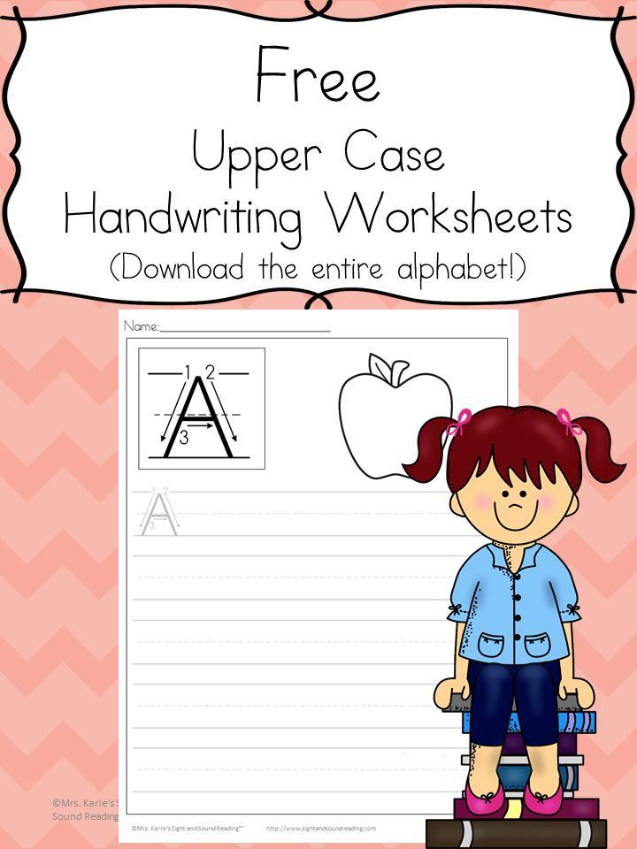 113 best Printable Handwriting Worksheets for Kids images on ...