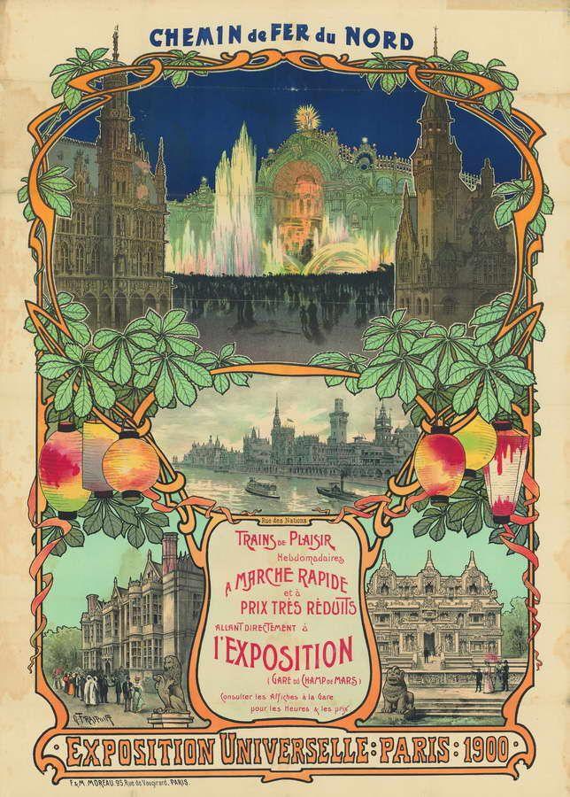 Affiche de l'exposition universelle à Paris, 1900 Paris