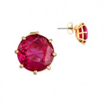 Boucles d'oreilles La Diamantine petite pierre ronde - Les Néréides - N2