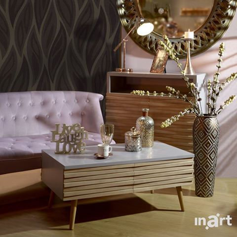 Live-laugh-love with a touch of pink and a spark of gold. After all, elegance comes in surprising combinations. #inartLiving #HomeDecor #Decoration #FurnitureDesign #Furniture