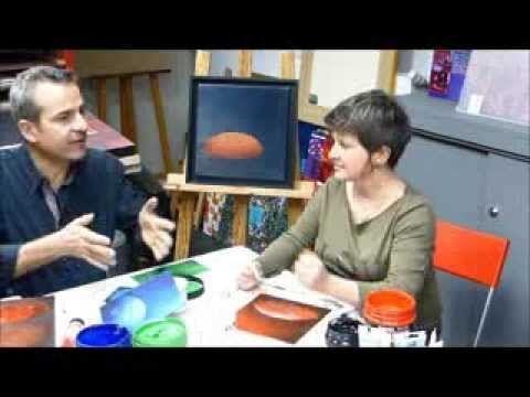 Christelle Bauduin vous dévoile ses secrets pour réaliser de magnifiques fonds fondus à l'acrylique sur www.beauxarts.fr