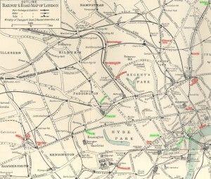 Mapa del metro de Londres, 1929
