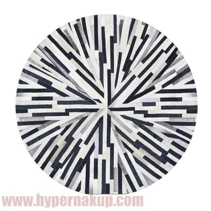 Luxusný koberec, koža, typ patchworku, 150x150 cm, KOBEREC KOŽA typ8