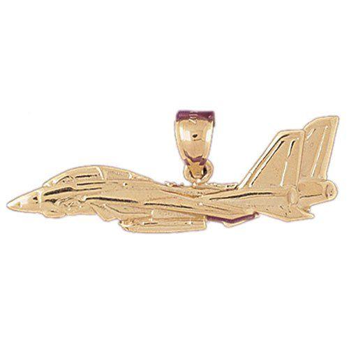 CleverEve's 14K Gold Pendant Air Craft Inspired 2.9 - Gram(s)