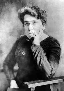 """Emma Goldman (1869-1940) - I did not believe that a Cause which stood for a beautiful ideal, for anarchism, for release and freedom from conventions and prejudice, should demand denial of life and joy. I insisted that our Cause could not expect me to behave as a nun and that the movement should not be turned into a cloister. If it meant that, I did not want it. """"I want freedom, the right to self-expression, everybody's right to beautiful, radiant things."""""""