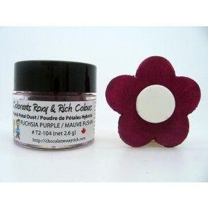 Chocolats Roxy & Rich Petal Dust - Fuchsia Purple Golda's Kitchen