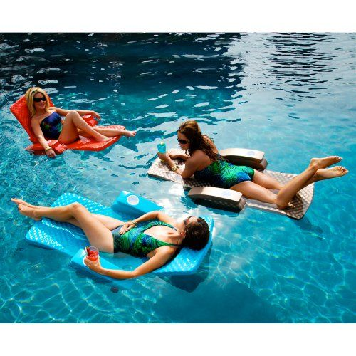 TRC Recreation Super-Soft Adjustable Foam Pool Float Recliner